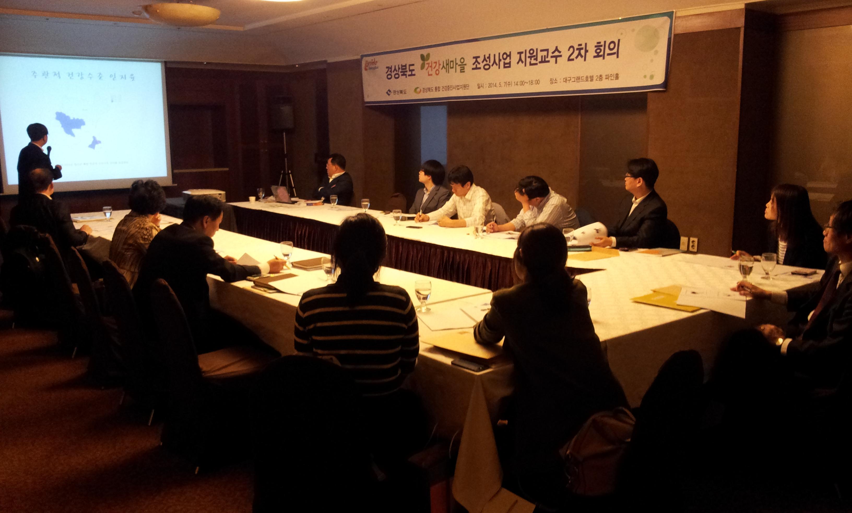 경상북도 건강새마을 조성사업 지원교수 2차 회의